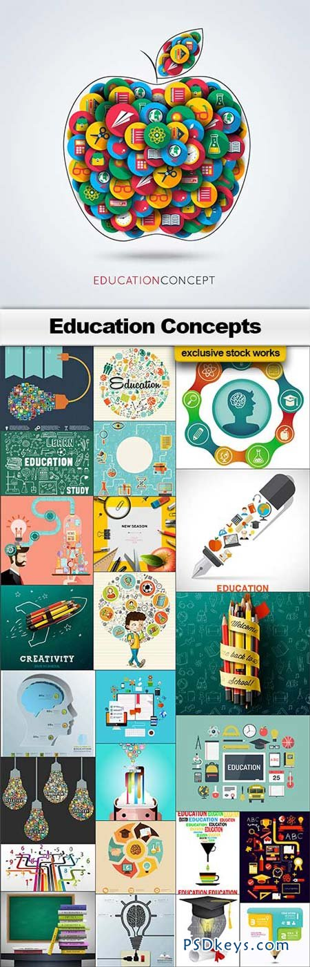 Education Concepts - 25xEPS