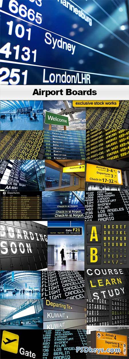Airport Boards - 25xJPEGs