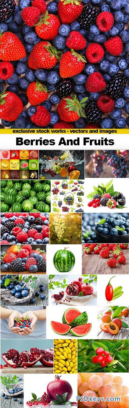 Berries and Fruits - 25xJPEGs