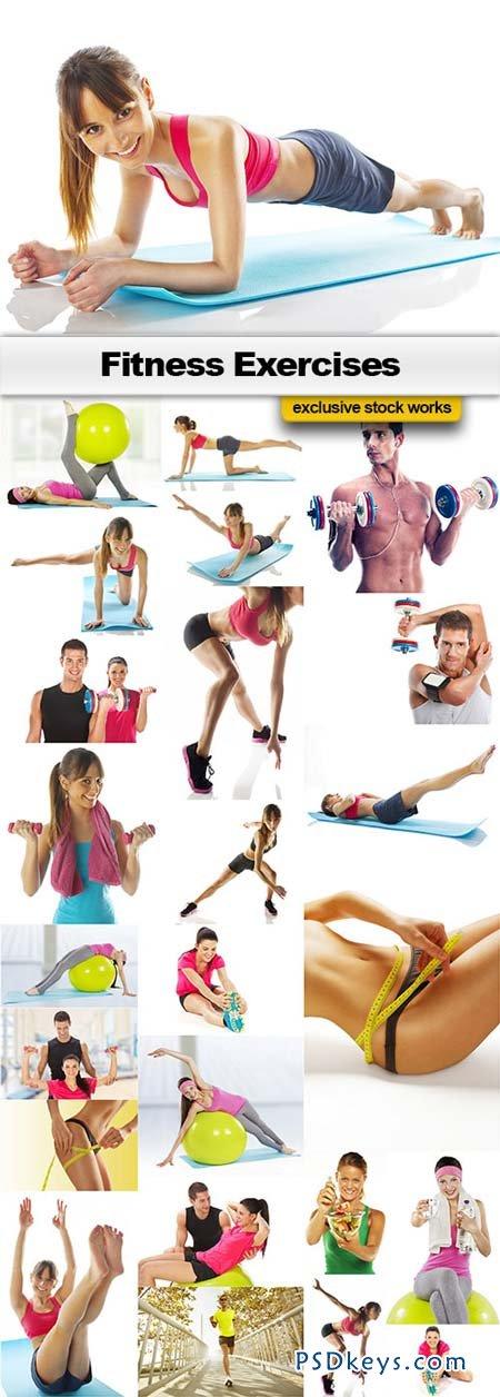 Fitness Exercises - 25xJPEGs