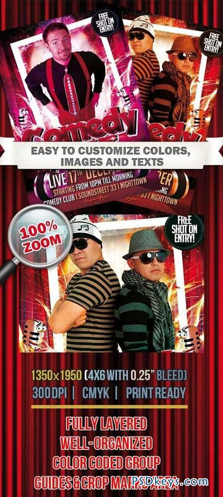 Comedy Night – Club And Party Flyer Psd Template » Free Download