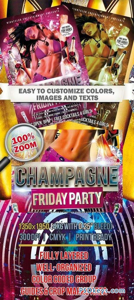 Shampagne Friday Party – Club and Party Flyer PSD Template