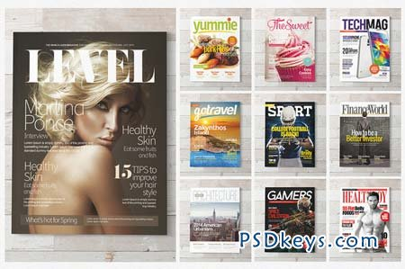 Magazine Covers Templates PSD 56287