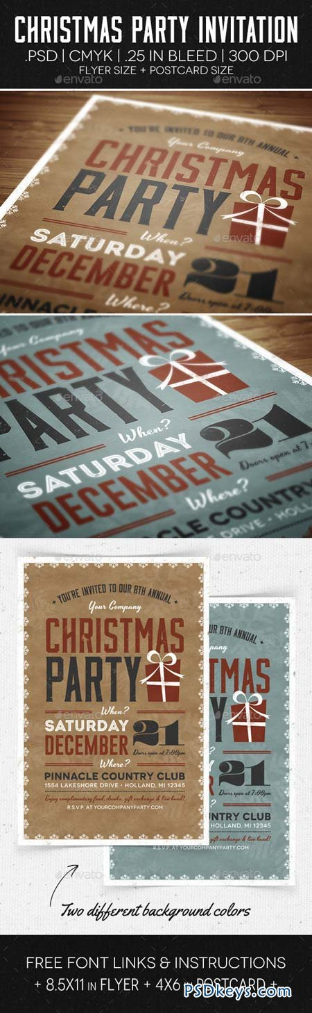 Christmas Party Flyer & Invitation 6176445