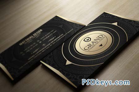 Gold And Black Business Card 72978