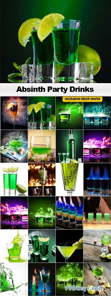 Absinth Party Drinks - 25xJPEGs