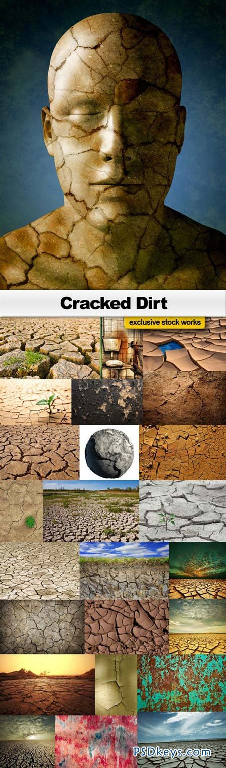 Cracked Dirt - 25xJPEG