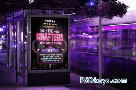 Neon Signboard Template Flyer 2 103661 » Free Download Photoshop ...