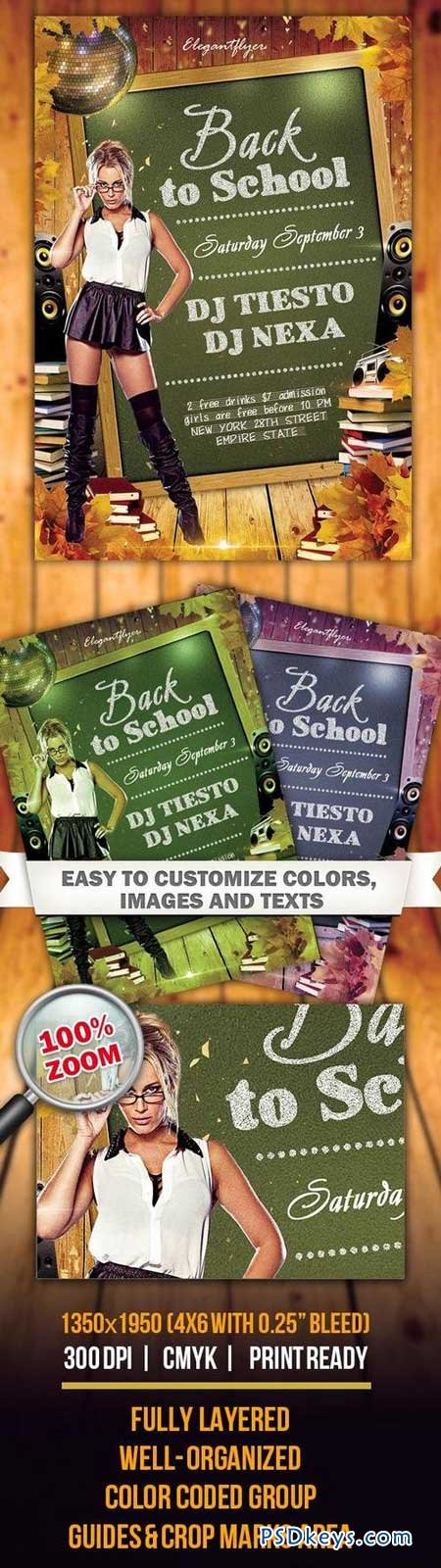 Back to School 2 – Flyer PSD Template