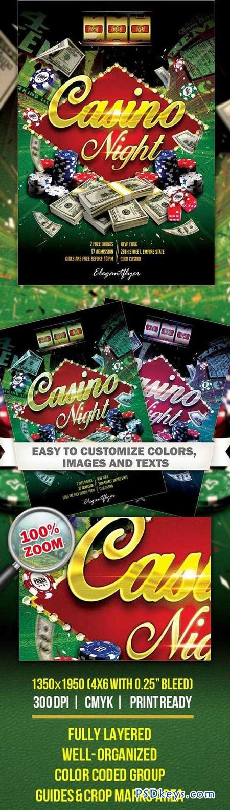 Casino Night Flyer Psd Template Free Download Photoshop Vector