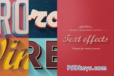 Retro Vintage Text Effects 77337