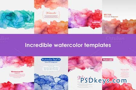 Set of watercolor templates 104577 free download photoshop vector set of watercolor templates 104577 toneelgroepblik Image collections