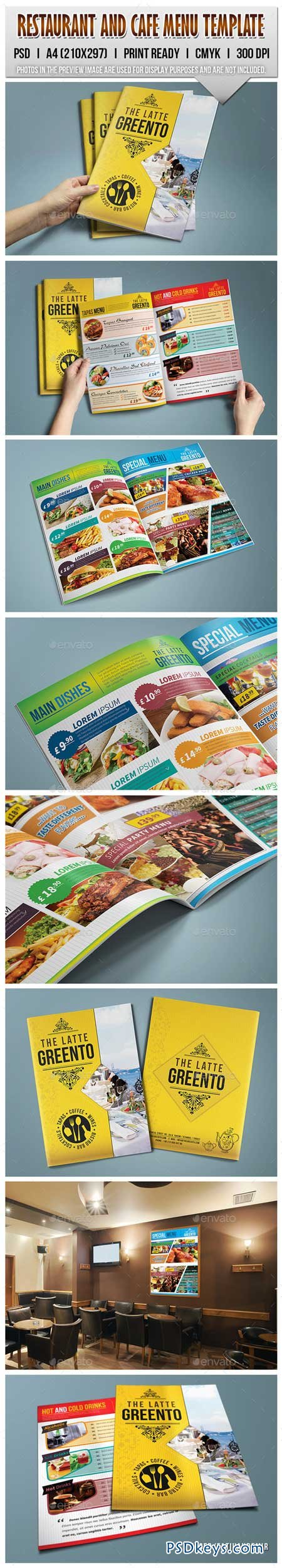Restaurant and Cafe Menu Template 9060513