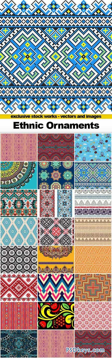 Ethnic Ornaments - 25xEPS