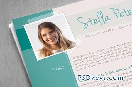 Fancy CV Template 29330