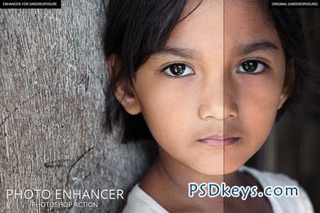 Photo Enhancer - Photoshop Action 107771