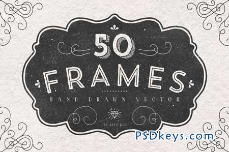 FRAMES. Hand drawn vector. 104622