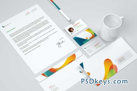 mockup corporate identity 106176 » free download photoshop vector, Powerpoint templates