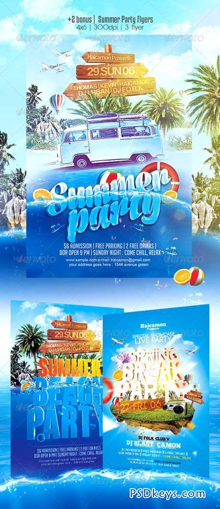 Summer Party Flyer 8009709
