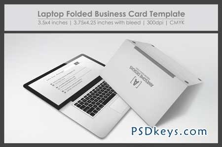 laptop folded business card template 27557 free download photoshop vector stock image via. Black Bedroom Furniture Sets. Home Design Ideas