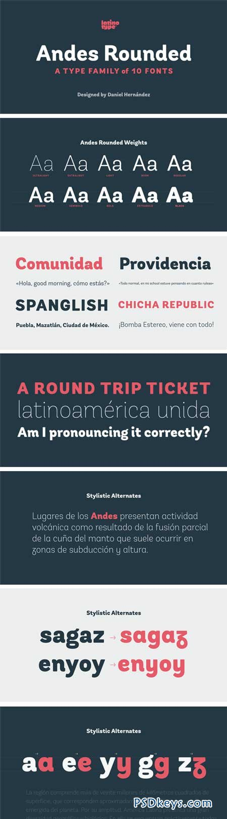 Andes Rounded Font Family - 10 Fonts for $189