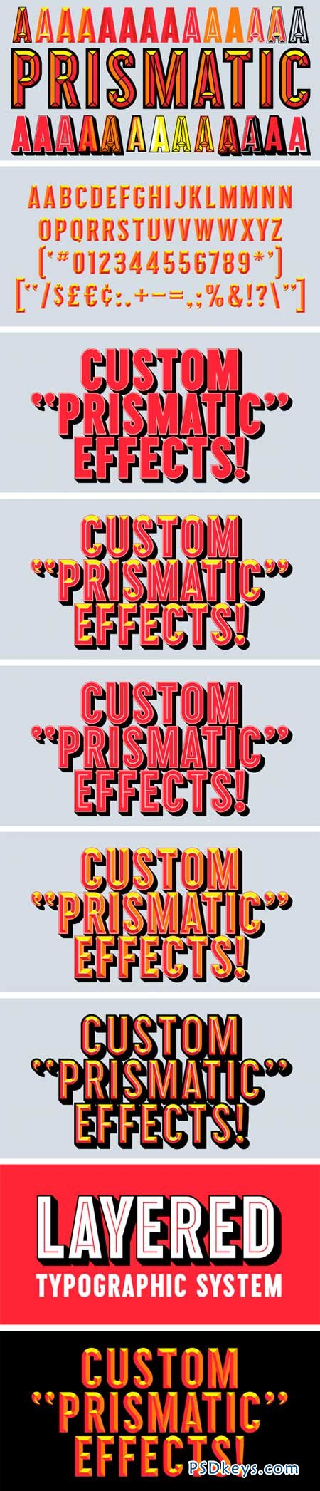 Prismatic Font Family - 11 Fonts for $225