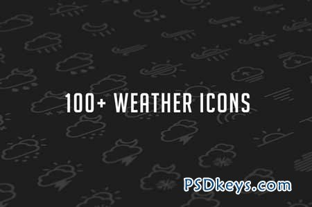 Weather Glyph Set 26184