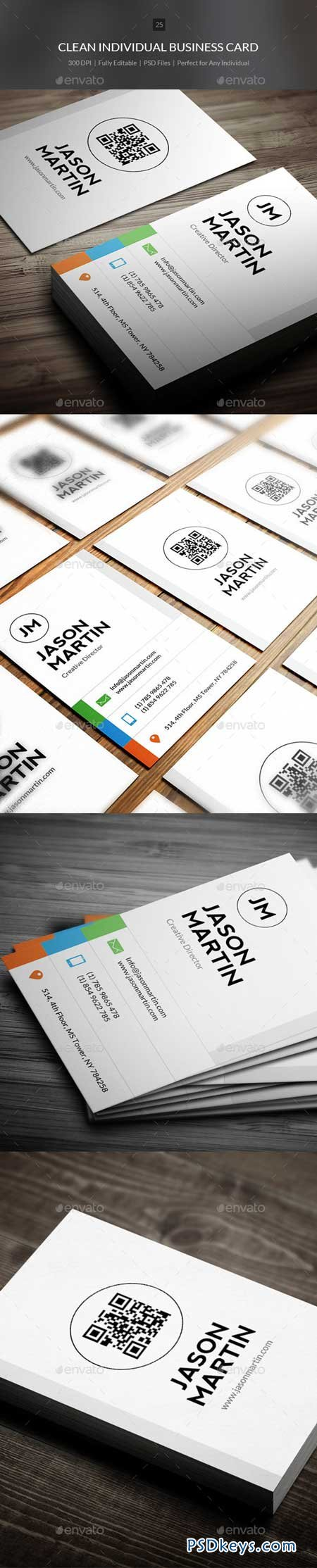 Clean Individual Business Card - 25 9259781