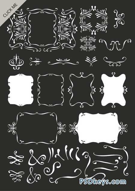 Hand drawn decorative elements 59889