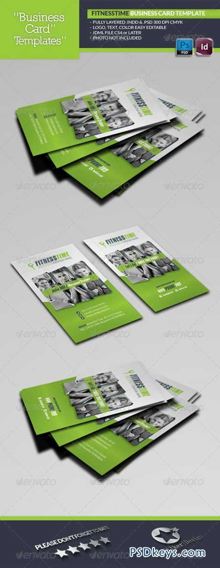 Fitness Time Business Card Template 5729633