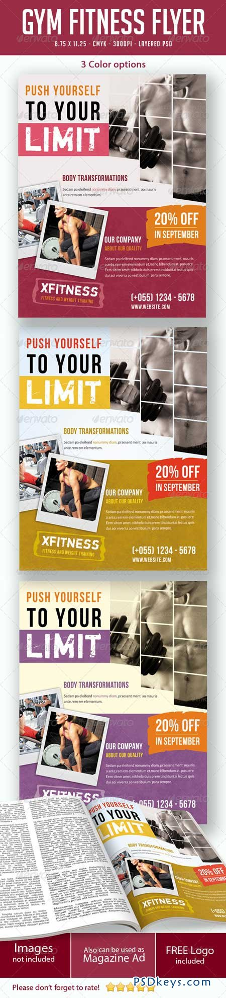 Gym Fitness Flyers