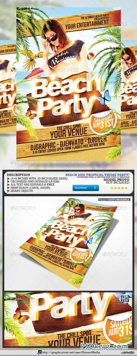 Beach Party Flyer 4659907