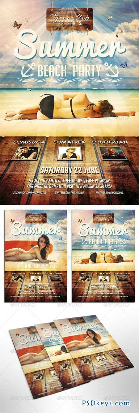Summer Beach Party Flyer 8096744