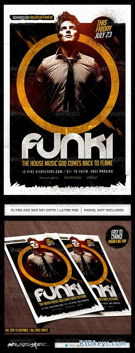 DJ Flyer Template PSD 8228936