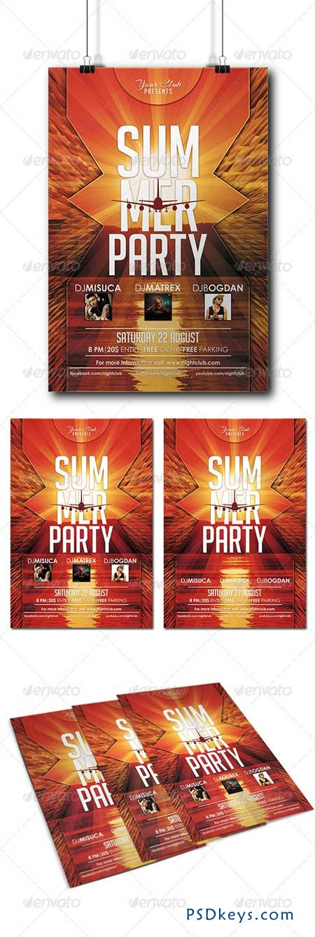 Summer Party Flyer 8192153