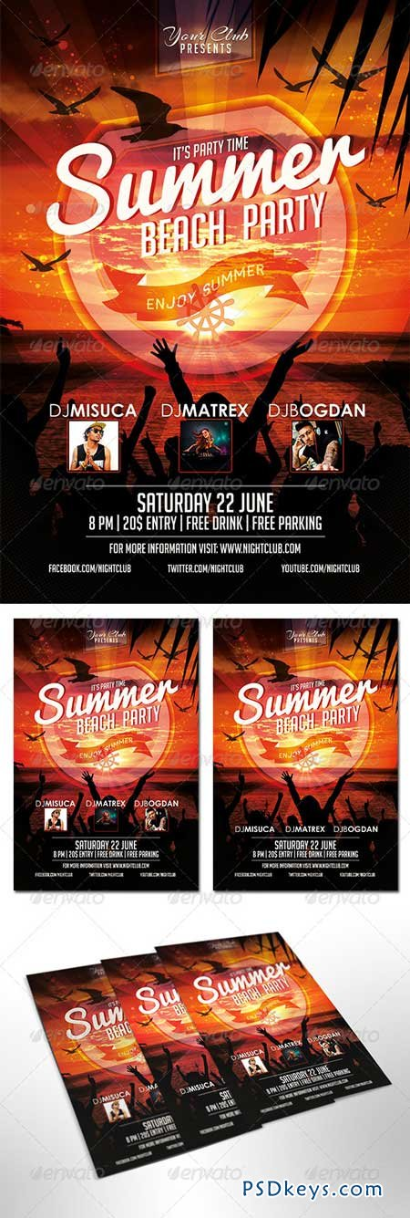 Summer Beach Party Flyer 8143712