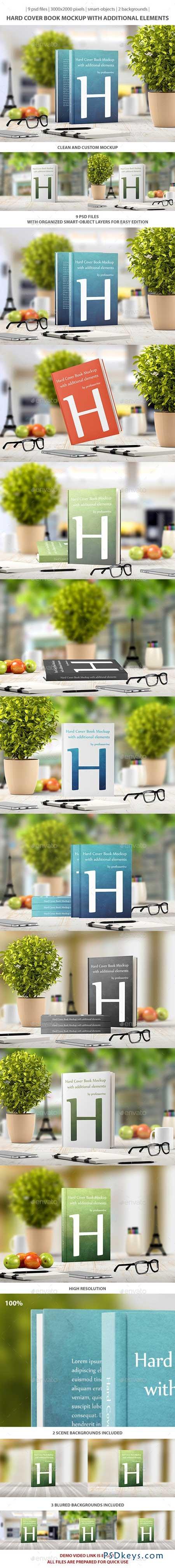 Hard Cover Book Mockup 9435271