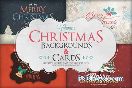 Christmas Background Cards Vol 1 109036 Free Download