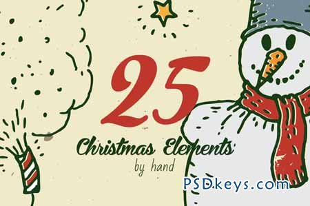 25 Christmas elements by hand vol.2 114547