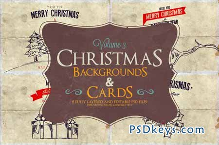 Christmas Background & Cards Vol.3 113240