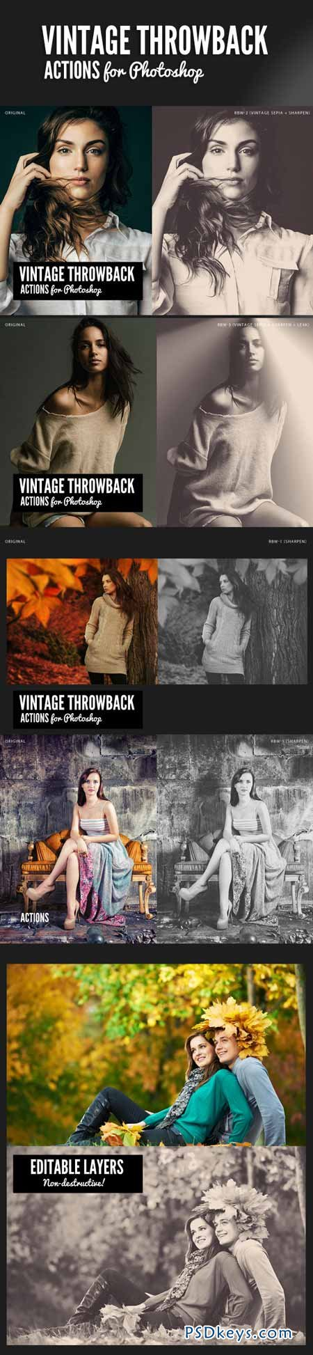 Vintage Throwback Actions 9540873 » Free Download Photoshop