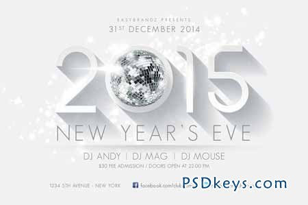 2015 New Years Flyer Template 15337 » Free Download Photoshop