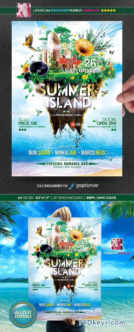 Summer Island Poster Flyer 8198632