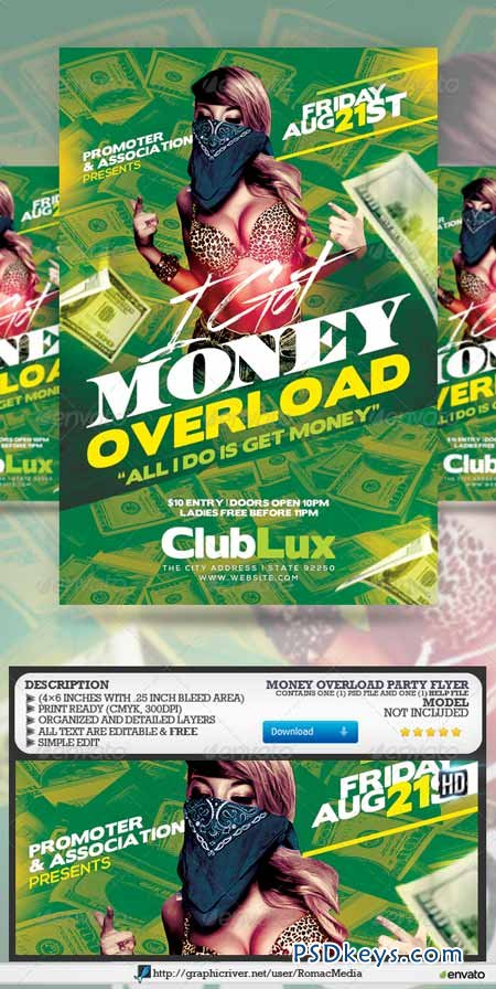 Money Overload Party Flyer 8185203
