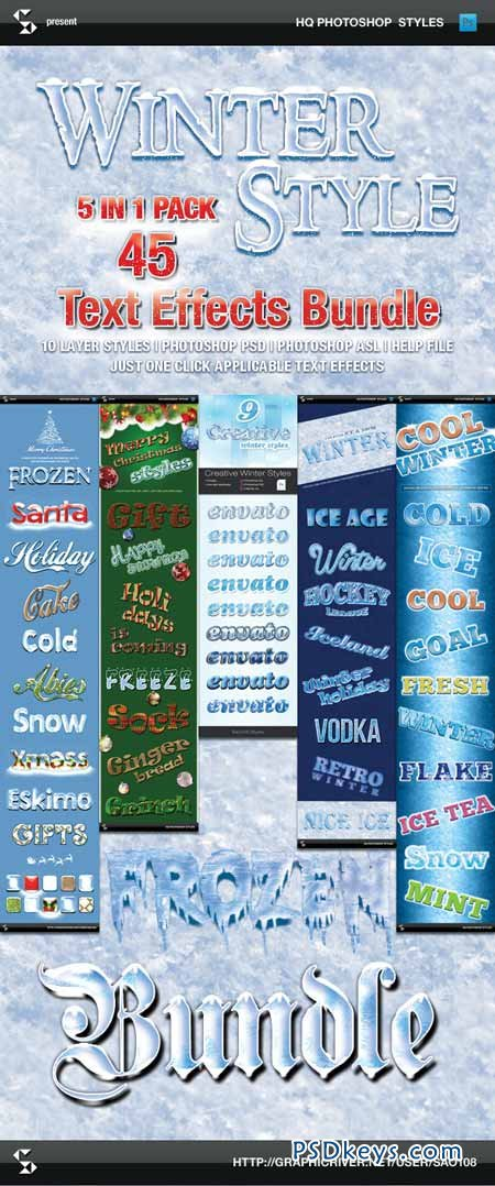 Winter Style Text Effects - Bundle 9463705