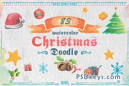 83 Watercolor Christmas Doodle 118623