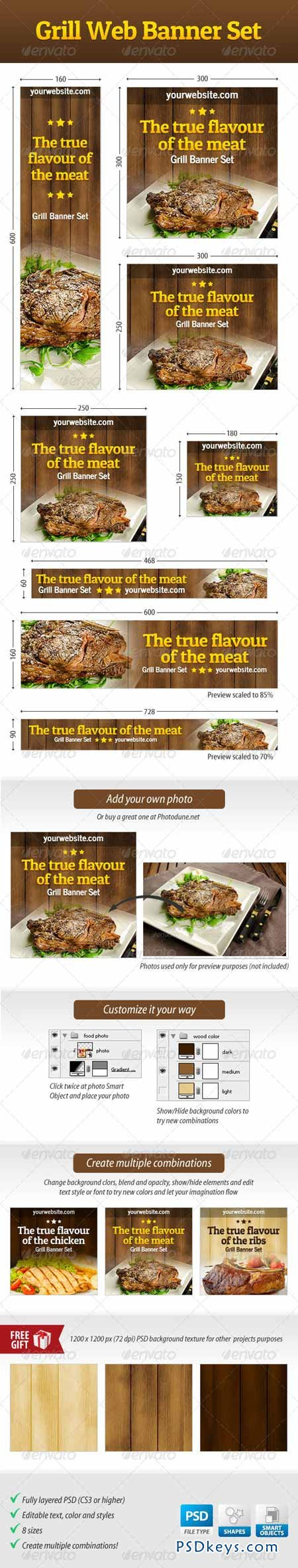 Grill Web Banner Set 4529286