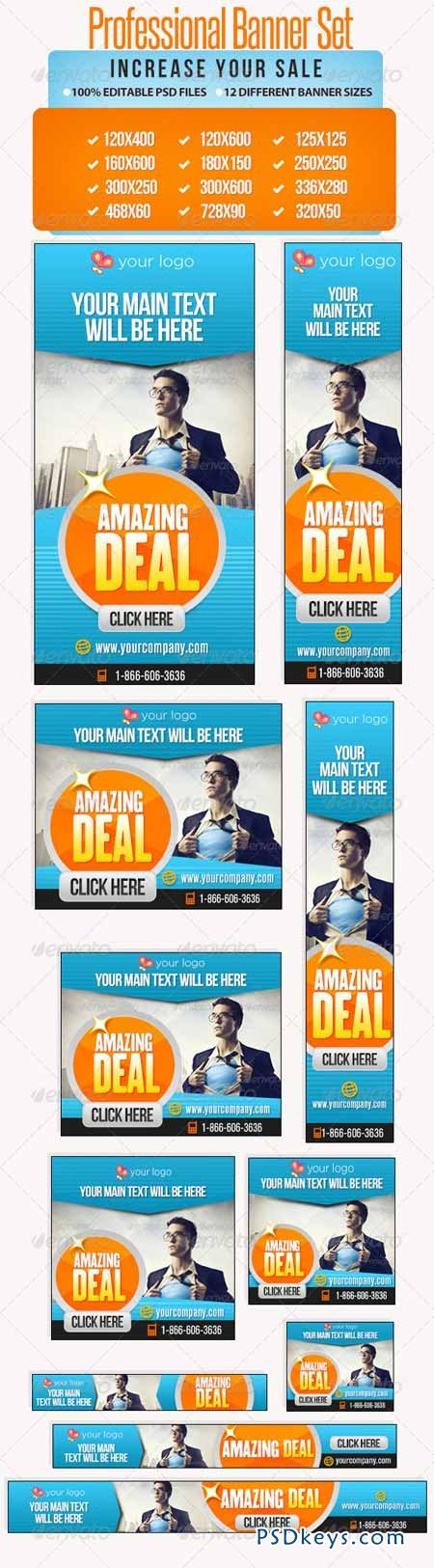 Professional Banner Set with Animation - 12 sizes 5011663