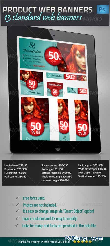 Product Promotion Web Banner Set 4804158