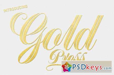 Gold Press Lettering 123027